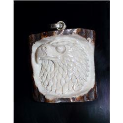 Hand Carved Eagle Pendant