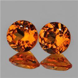 Natural Mandarin Orange Spessartite Garnet Pair