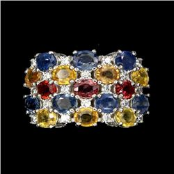 Natural Multi-color Sapphire Ring