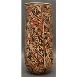 HOPI INDIAN POTTERY CYLINDER ( LOU ANN SILAS)