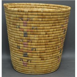 ESKIMO INDIAN BASKETRY CONTAINER