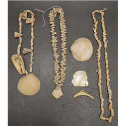 COLLECTION OF ANASAZI INDIAN SHELL BEADS AND PENDANTS