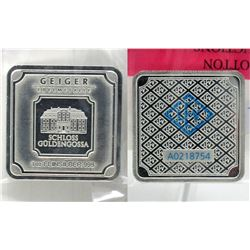 1 Oz. Geiger Edelmetalle .999 Fine Silver Bar