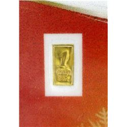Two 1 Grain Certified .9999 Fine 24KT Gold Bars
