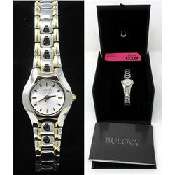 New in Box Ladies 2-Tone Bulova Dress Watch