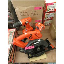 Black & Decker Cordless Power Tool Set