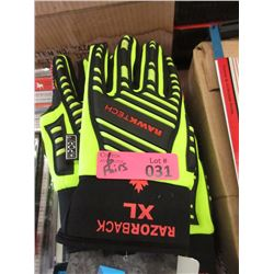 5 Pairs of New Size XL Razorback Gloves