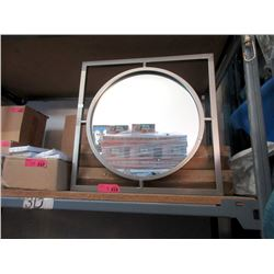 """3 New Square Metal Framed Wall Mirrors - 20"""" x 20"""""""