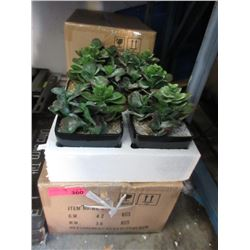 """4 Cases of Six 7"""" Artificial Plants"""