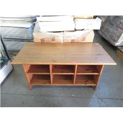 Pine Coffee Table with Storage Underneath
