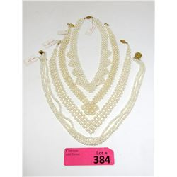 """4 New Woven Seed Pearl Necklaces - 16"""" - 18"""""""