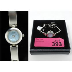 Ladies Gucci Watch with Light Blue Face