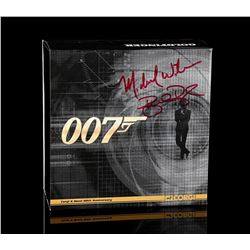 JAMES BOND: VARIOUS FILMS - Autographed Twin Set of Gold Plated Vanquish and DB5 Collectors Models