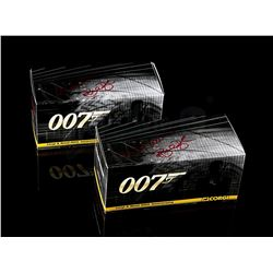 JAMES BOND: VARIOUS FILMS - Autographed Gold Plated Vanquish and DB5 Collectors Models