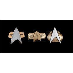 STAR TREK - Set of 3 Starfleet Pin Badges