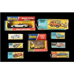 VINTAGE TOYS - Assorted Dinky and Corgi Diecast Vehicles