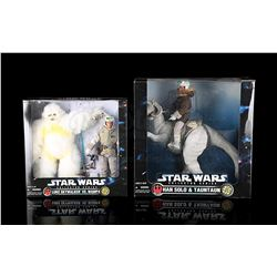 STAR WARS: THE POWER OF THE FORCE - Collector Series Twin Packs - Luke vs Wampa, Han On Tauntaun