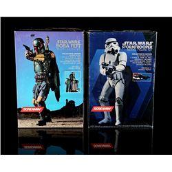 STAR WARS: A NEW HOPE - Stormtrooper and Boba Fett Model Kits