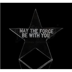 STAR WARS: A NEW HOPE - May The Force Be With You Lucite Star Crew Gift