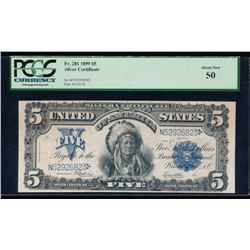 1899 $5 Chief Silver Certificate PCGS 50