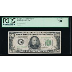 1934 $500 New York Federal Reserve Note PCGS 50