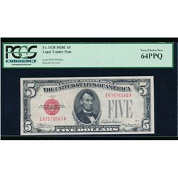 1928C $5 Legal Tender Note PCGS 64PPQ