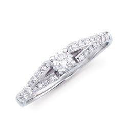 14KT White Gold 0.48ctw Diamond Ring