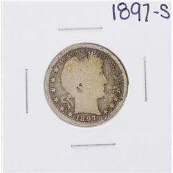 1897-S Barber Quarter Coin