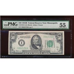 1934B $50 Minneapolis Federal Reserve Note PMG 55