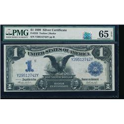 1899 $1 Black Eagle Silver Certificate PMG 65EPQ