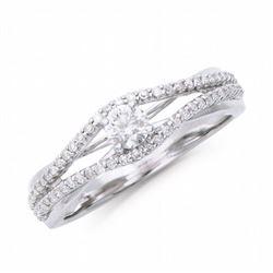14KT White Gold 0.44ctw Diamond Ring