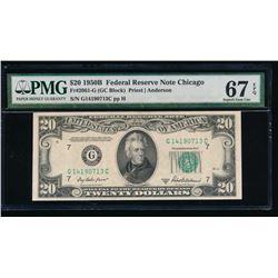 1950B $20 Chicago Federal Reserve Note PMG 67EPQ