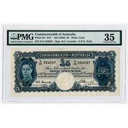Commonwealth of Australia. ND (1949). Issued Banknote.