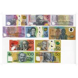 Australia, Reserve Bank, 1988 to 2012 Banknote Issue Assortment.