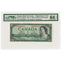 Bank of Canada, 1954 Modified Portrait Replacement * Note.
