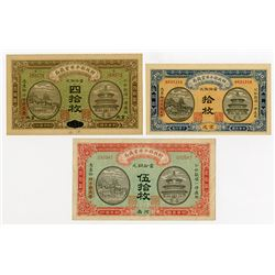 Market Stabilization Currency Bureau. 1915-1921. Trio of Issued Notes.