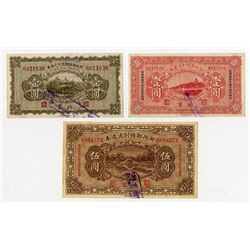 Chinese Government. 1922-1923. Trio of Issued Notes.