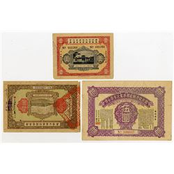 Various Issuers. 1926-1932. Trio of Bonds & Lottery Loans.