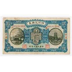 "Szechuen Province, 1921 ""Chungking"" Issue Banknote."