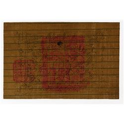 "Sinkiang Military Note, 1934 Tael issue ""Cloth Note"" Rarity."