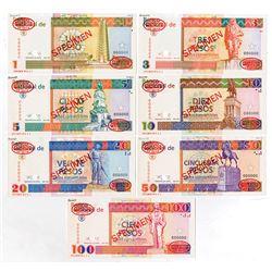 """Banco Nacional De Cuba, 1994 Specimen Set of """"Pesos Convertibles"""" Banknotes."""