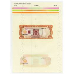 Banco Central De La Republica Dominicana 1988 Essay Proof Sheet.