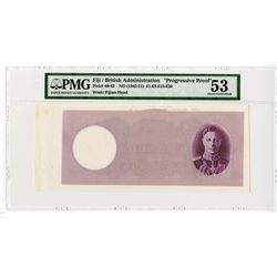 Government of Fiji. ND (1942-51). 20 Pounds, Progressive Proof Banknote.