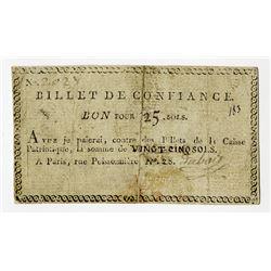 Billet de Confiance, ND (19th C.), Issued Note.