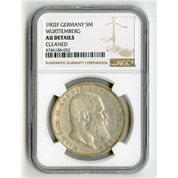 Wurttemberg, 1913, 5 Marks Silver Coin.