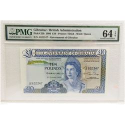 Government of Gibraltar, 1986 £10 Issue Banknote.
