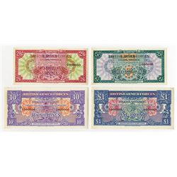 British Armed Forces Special Voucher 1946 ND First Series Specimen Quartet.