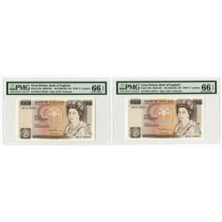 Bank of England, ND (1984-86) High Grade Sequential Banknote Pair.