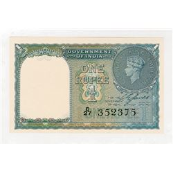 Government of India, 1940 Issue Banknote.