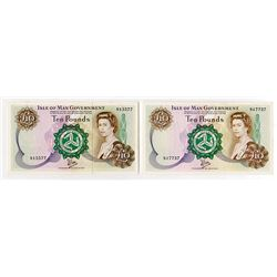 Isle of Man Government, 1979 ND Issue Banknote Duo.